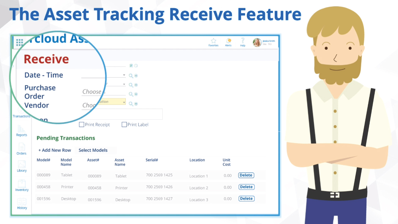 Asset Tracking System - Asset Receive feature