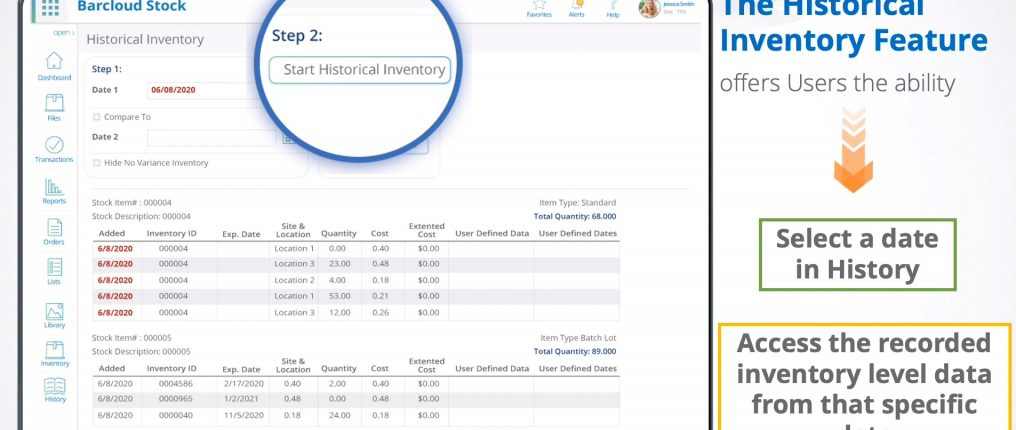 inventory report recorded history pr158