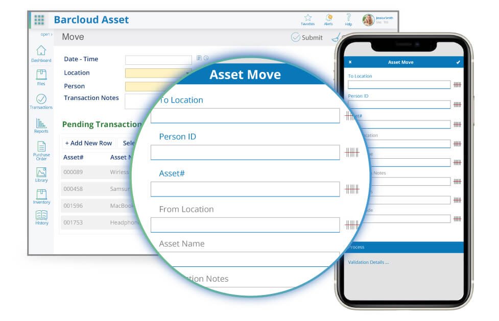 asset tracking check out in image